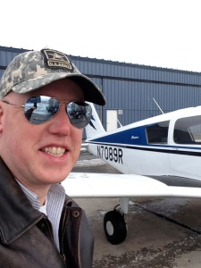 Right after my first flight as a student pilot.